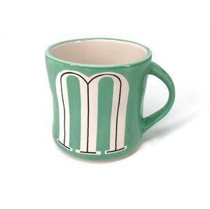 ANTHROPOLOGY Hand Painted M Mug Mint